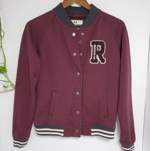 🛑3/$30  Roots Letterman long sleeve jacket medium